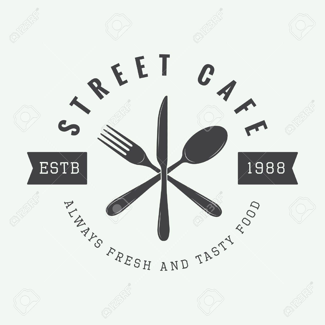 Logo Vintage De Restaurant Badge Ou Embleme Vector Illustration Logo Vintage Vintage Logo Restaurant Vintage