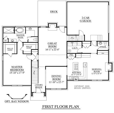 House Plan 2727 A Fairfield First Floor Traditional 2 Story With Full Brick Exterior 2 Story Foyer And Great Room House Plans Two Story House Plans How To Plan