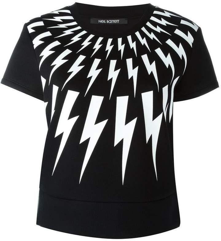 afa8bb4f Neil Barrett lightning bolt T-shirt | Products | Neil barrett, T ...