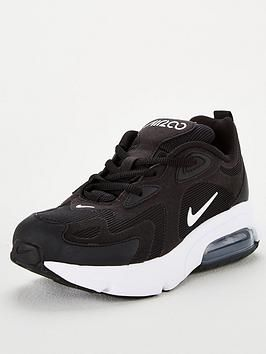 nike air max 200 black and white junior