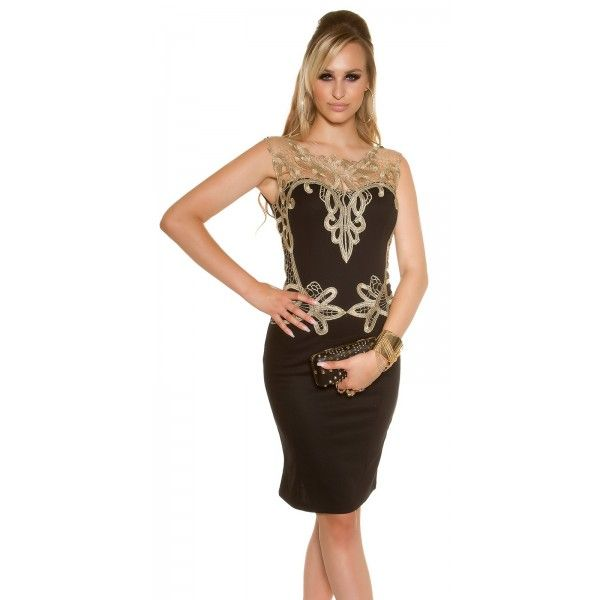 Spoločenské šaty s čipkou KouCla - Štýlové šaty  01c631e8004