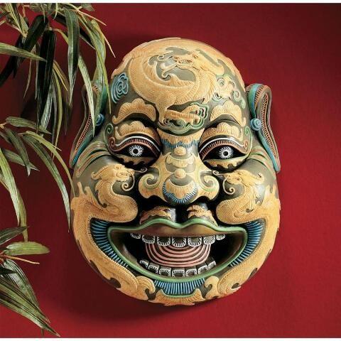 Wall Mask Decor Classy Wei Chi Gong Sculptural Wall Mask  Decor  Pinterest  Walls Design Ideas