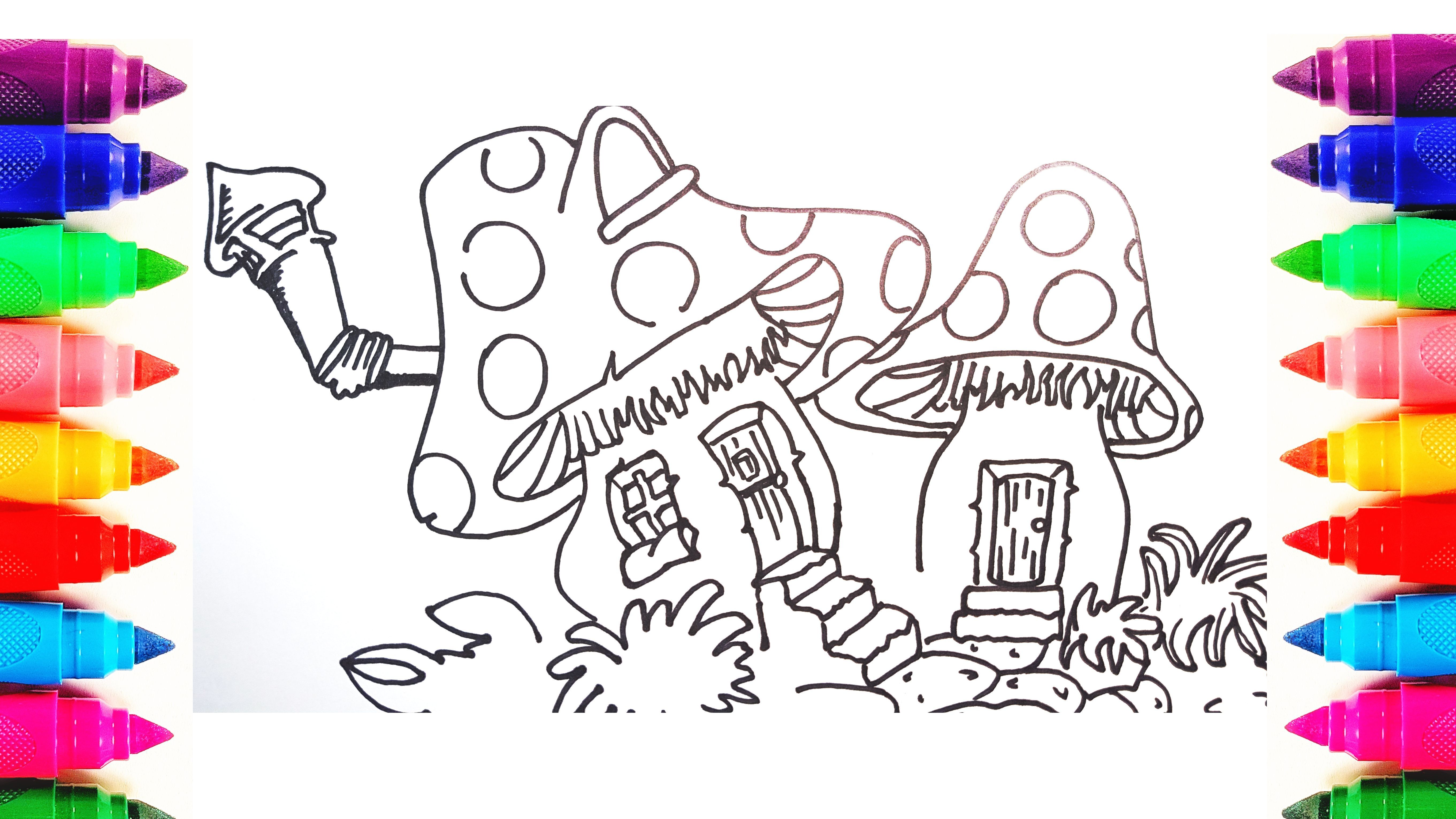 How To Draw Cute Mushroom House For Kids Drawing And Coloring Pages Af67c94be5d19d00592871db728f29a7 728035095985432156 Rainbow