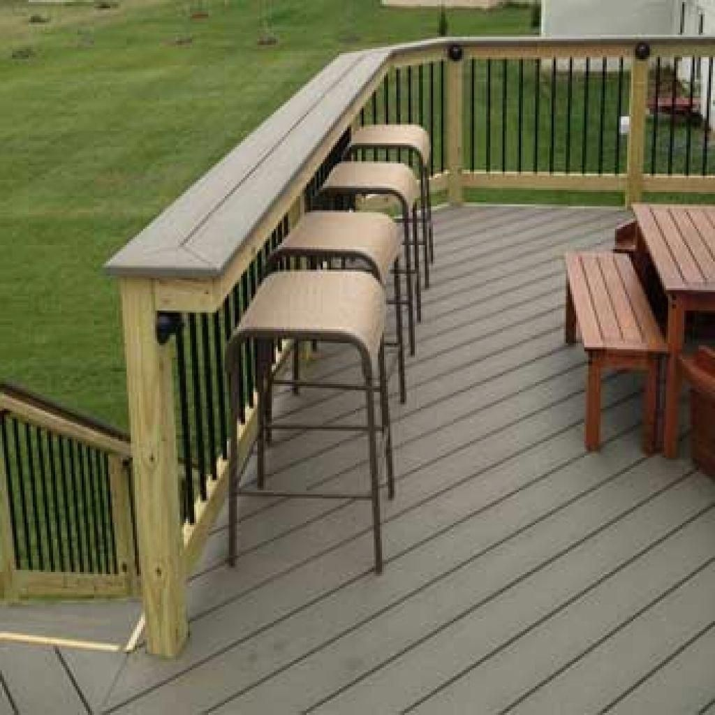 Installing A Rail Bar Top An Easy And Inexpensive Way To Add Deck Building A Deck Railing Deckinstallation Easydecksto Building A Deck Diy Deck Patio Railing