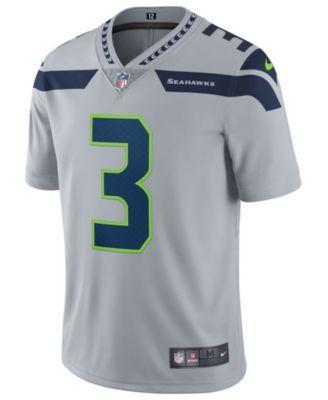 Nike Men s Russell Wilson Seattle Seahawks Vapor Untouchable Limited Jersey  - Gray XXL e0906330a