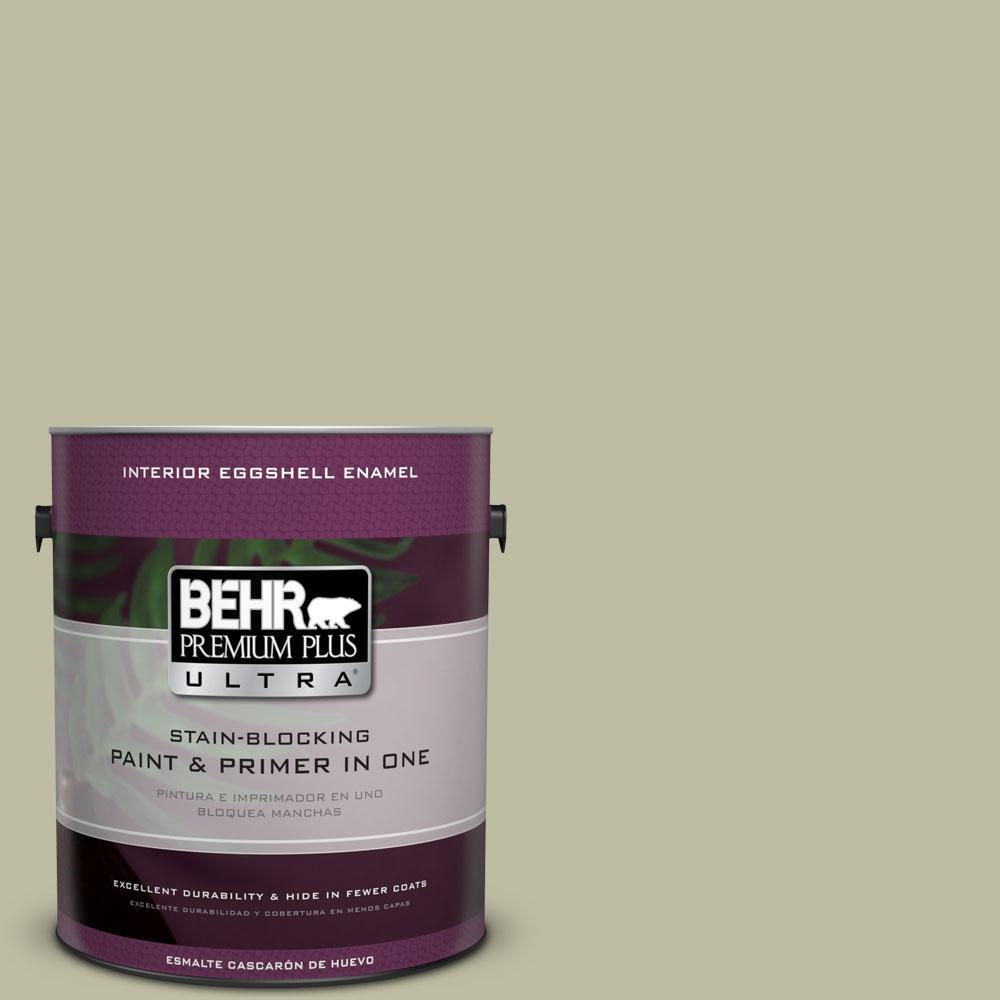 BEHR Premium Plus Ultra 1-gal. #ppf-24 Garden Lattice Eggshell Enamel Interior Paint, Ppf-24 Garden Lattice Eggshell