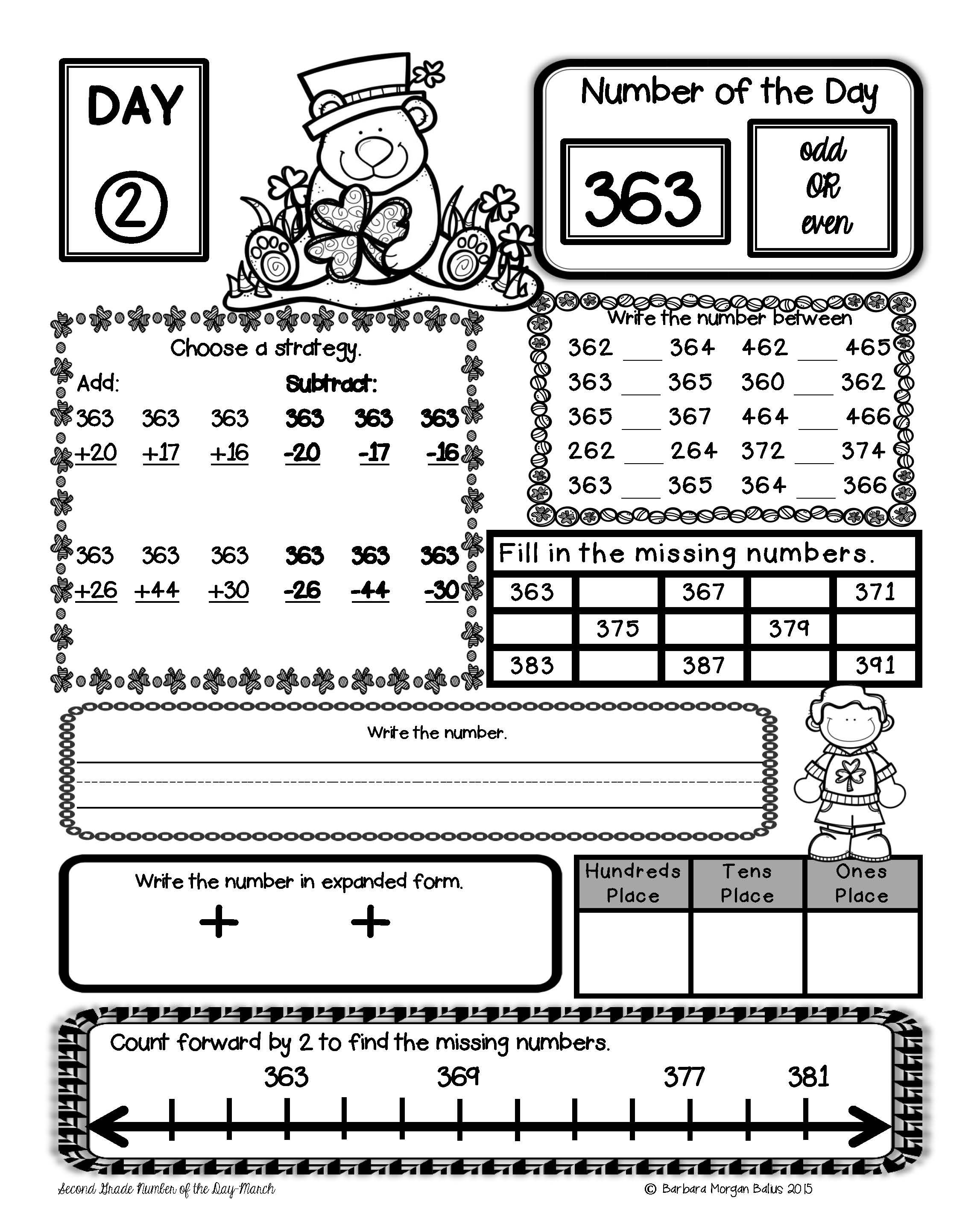 Freebie How Do You Review Number Sense In Second Grade