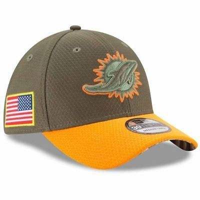 871baae5c54 Miami Dolphins Hat Salute to Service NFL New Era 2017 39Thirty Olive ...