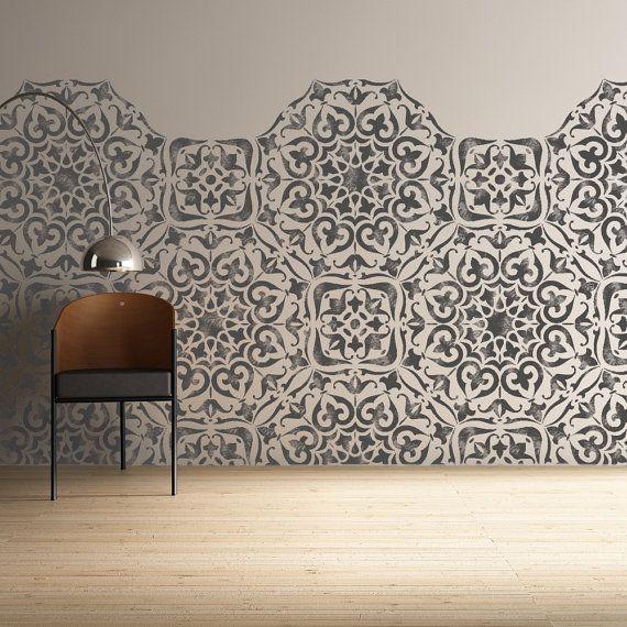 Mysuru Stencil Indian Bohemian Wall Furniture Floor Craft Stencil For Painting Mysu01 In 2020 Stenciled Floor Stencil Furniture Tile Stencil