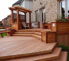 Multilevel Deck With Built In Planters Deck Design In Toronto