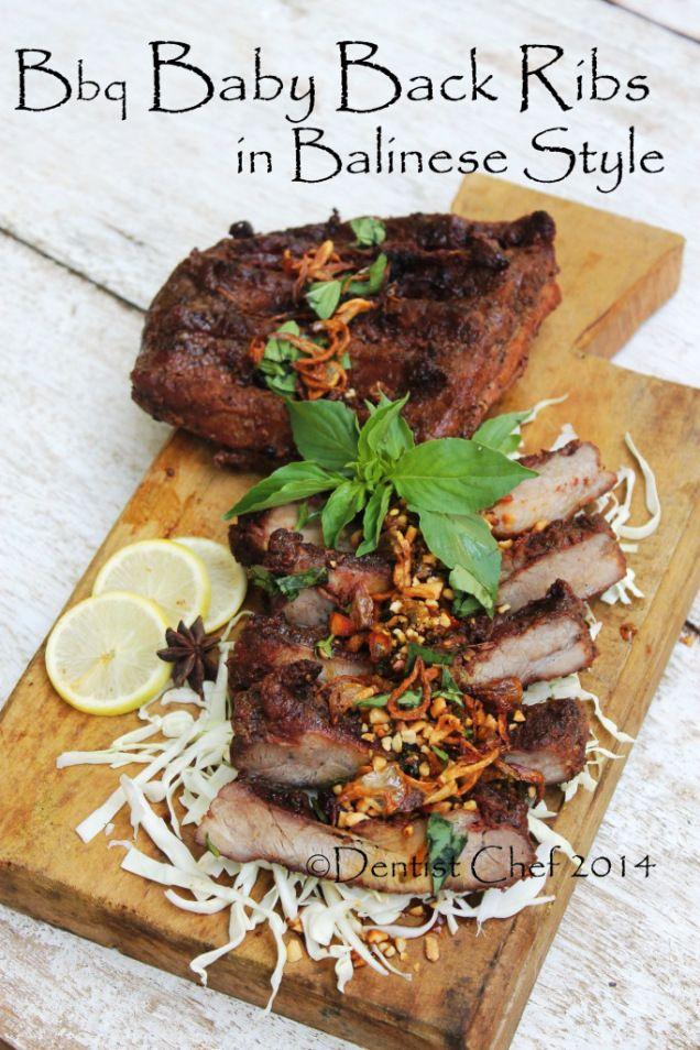 Balinese Style Barbequed Baby Back Ribs Indonesian Sweet Soy Sauce Glazed Grilled Pork Ribs Resep Babi Panggang Bumbu Bali Resep Babi Iga Babi Perut Babi