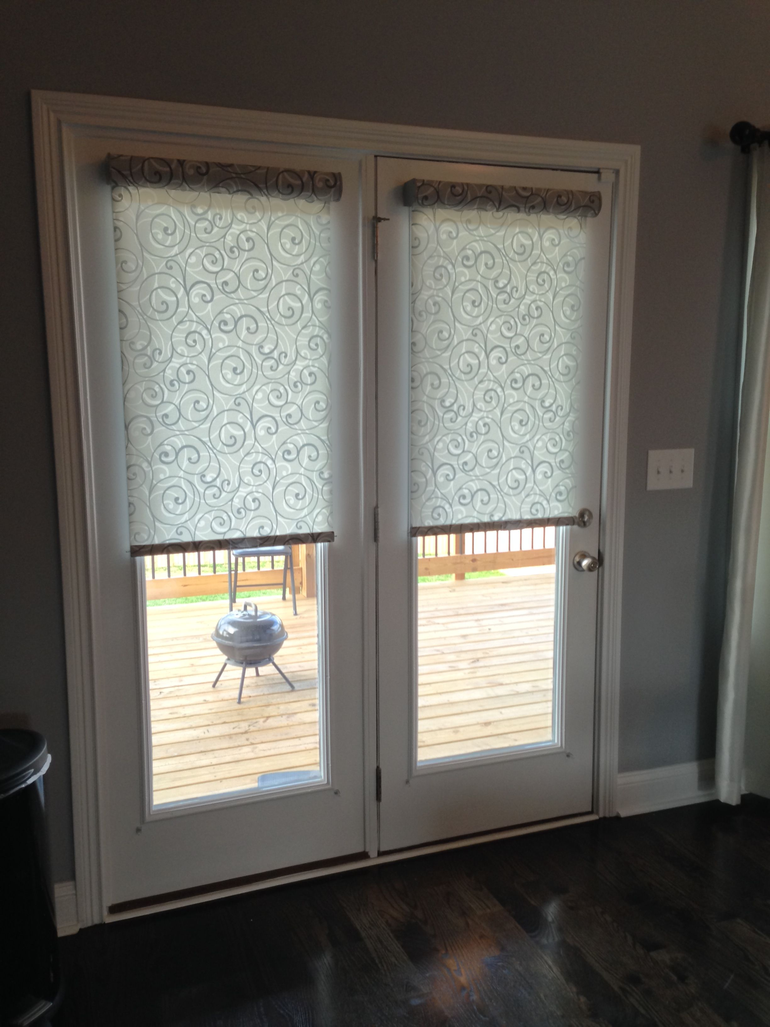 roller shades ideas for the french doors pinterest. Black Bedroom Furniture Sets. Home Design Ideas