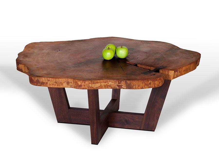 David Stine Woodworking Rustic Wood Furniture Coffee Table Wood Round Wood Coffee Table Tree Trunk Coffee Table