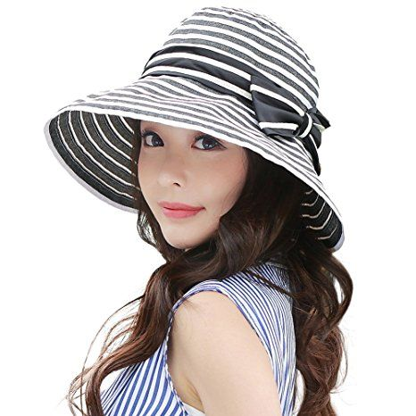 698b63d14eac26 Siggi Womens UPF50+ Summer Sunhat Bucket Packable Crushable Foldable Wide  Brim Hats w/ Chin Cord