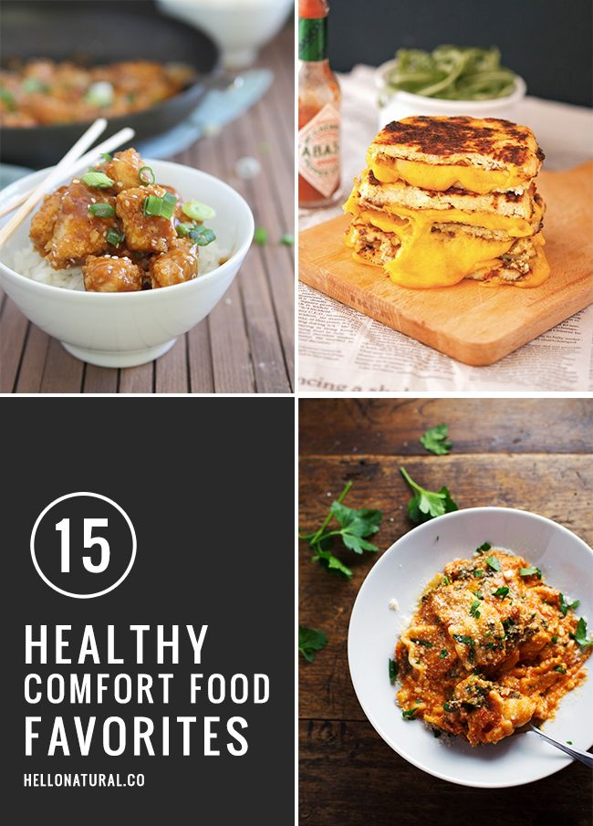 15 Healthy Comfort Food Makeovers | http://hellonatural.co/15-healthy-comfort-food-favorites/