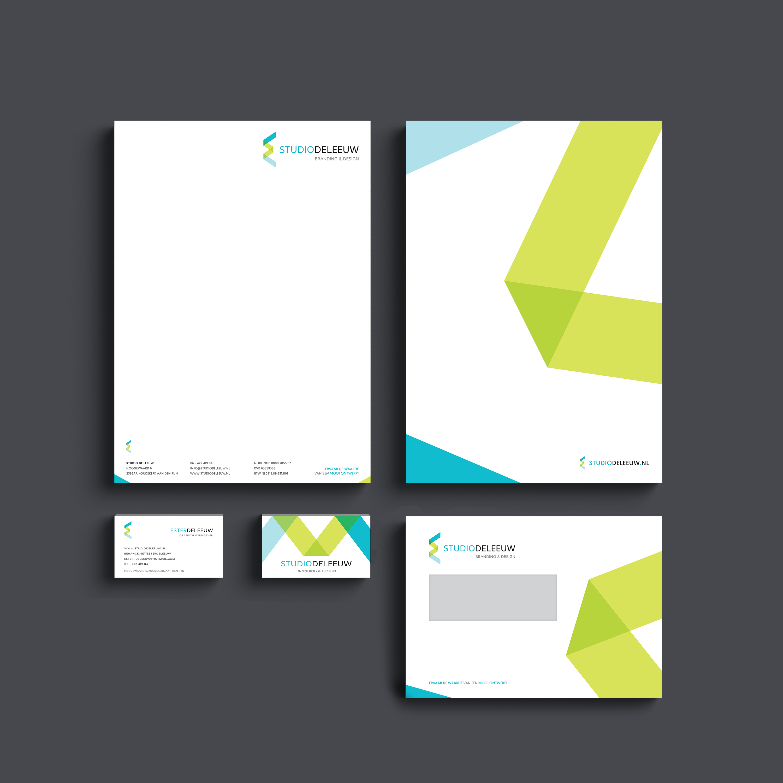Studio de Leeuw // Self branding Logo, letterhead, business card and enveloppe