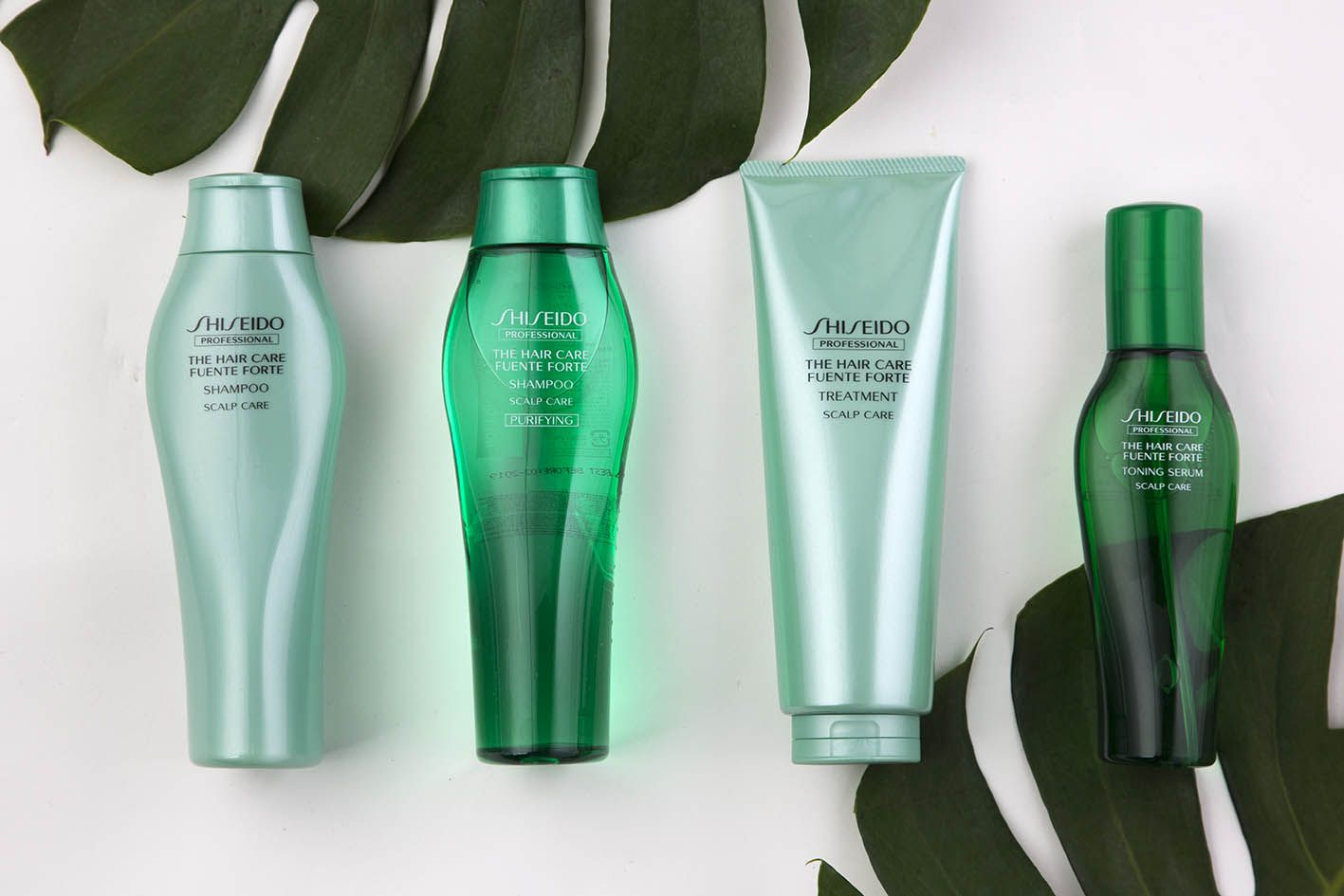 Shiseido Professional Fuente Forte Product Line Photography Shampoo Hair And Scalp Singapore