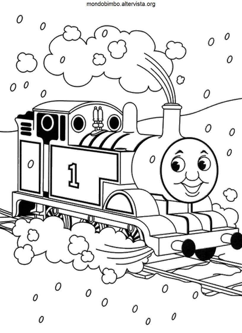 Disegni Trenino Thomas Disegni Da Stampare E Colorare Train