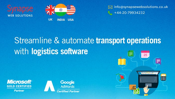 Logistics software solutions, offered by