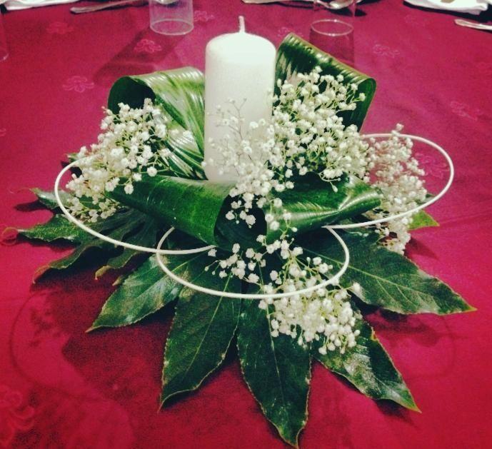 Centro de mesa con velas Arreglos Florales y con frutas