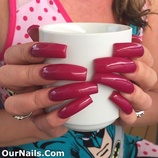 Morning coffee with my nails! I had them done on Tuesday! . Please ...