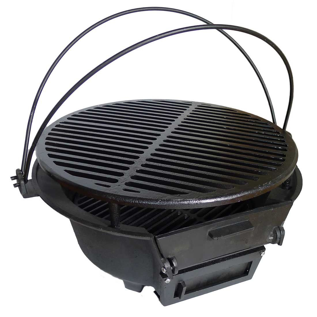 Spiceberry Home Cast Iron 16 Inch Round Hibachi Barbecue Grill Hibachi Grill Bedroom Ideas For Couples Modern Grilling