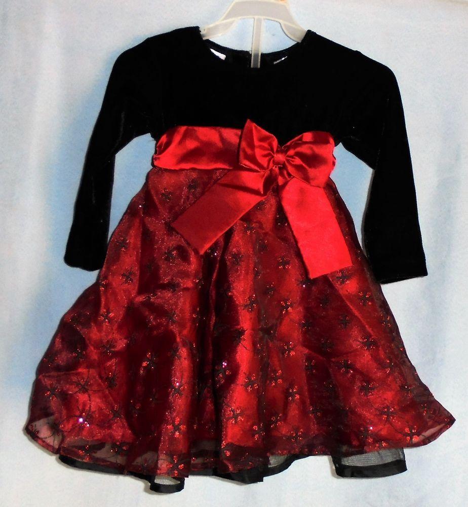 Blueberi Boulevard Red Black Christmas Dress 24 Months ...