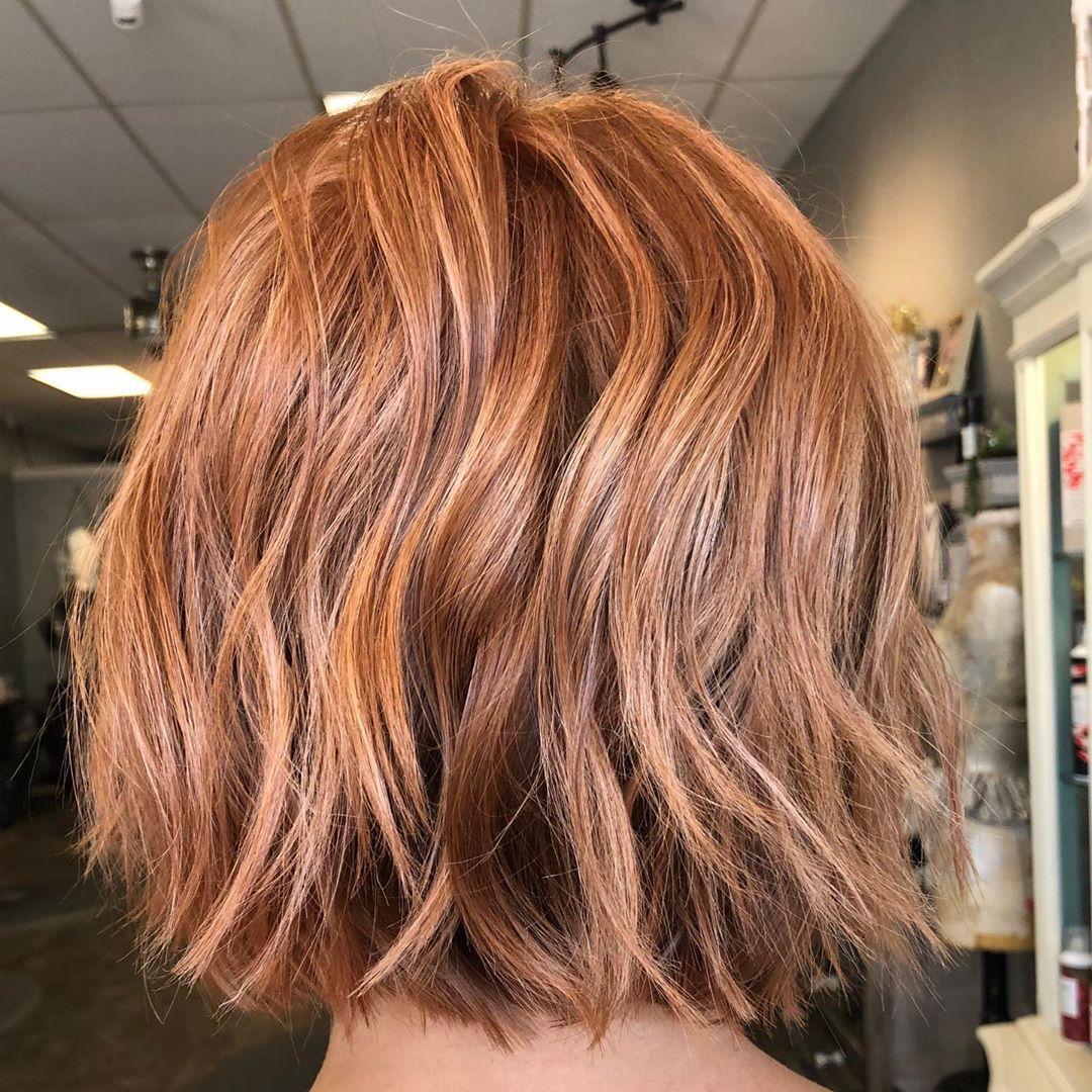 just peachy 🍑  #hair #haircut #haircolor #hairstylist #hairtransformation #hairstyles #hairgoals #btc #behindthechair #blondehair #blondes #highlights #balayage #balayagehair #livedinblonde #colormelt #hairporn #virginiahairstylist #chesapeakehairstylist #modernsalon #wellahair #wellaprofessional #oligopro #davines #rco #masterstylist #ginger #gingerhair