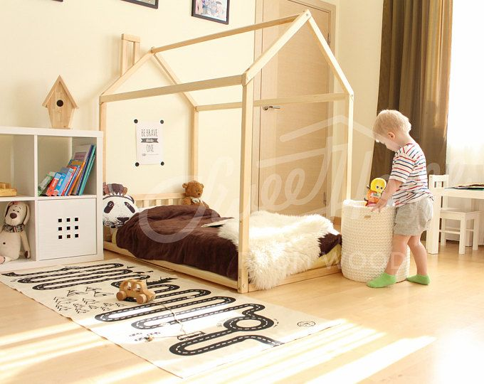 Kid Bed House Is Floor Bed For Children Toddler House Bed House