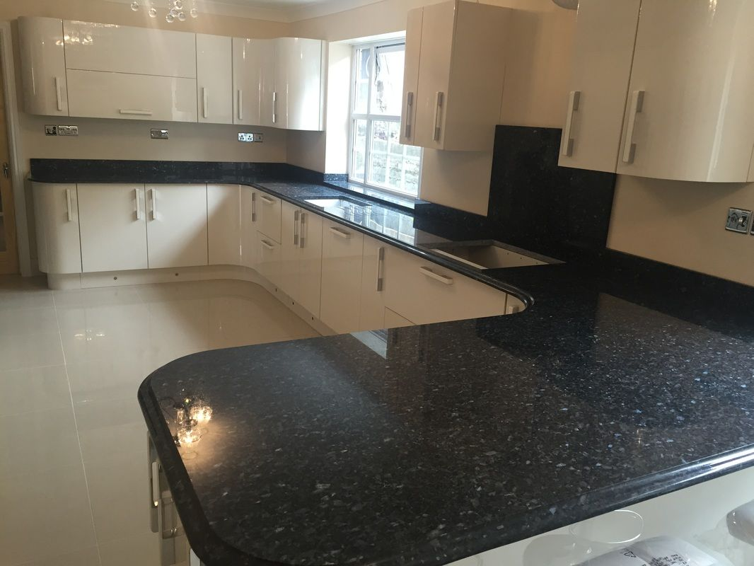 Blue Pearl Granite Countertops Pictures Cost Pros And Cons Granite Countertops Blue Granite Countertops Replacing Kitchen Countertops