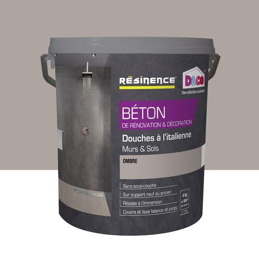 High Quality Enduit Béton RESINENCE, Gris Ombre, 4 L
