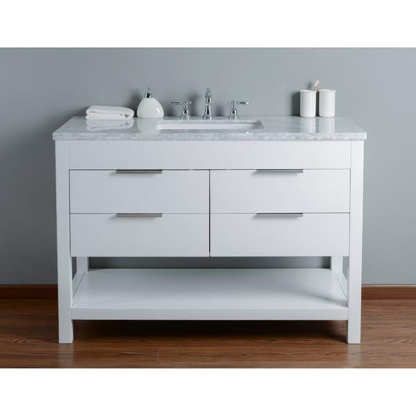 48 inch bathroom vanity with sink. Stufurhome Rochester 48 Inch White Single Sink Bathroom Vanity
