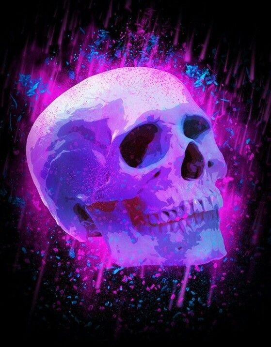 Purple and Blue Skull Art 💀   Artwork: Skulls in 2019