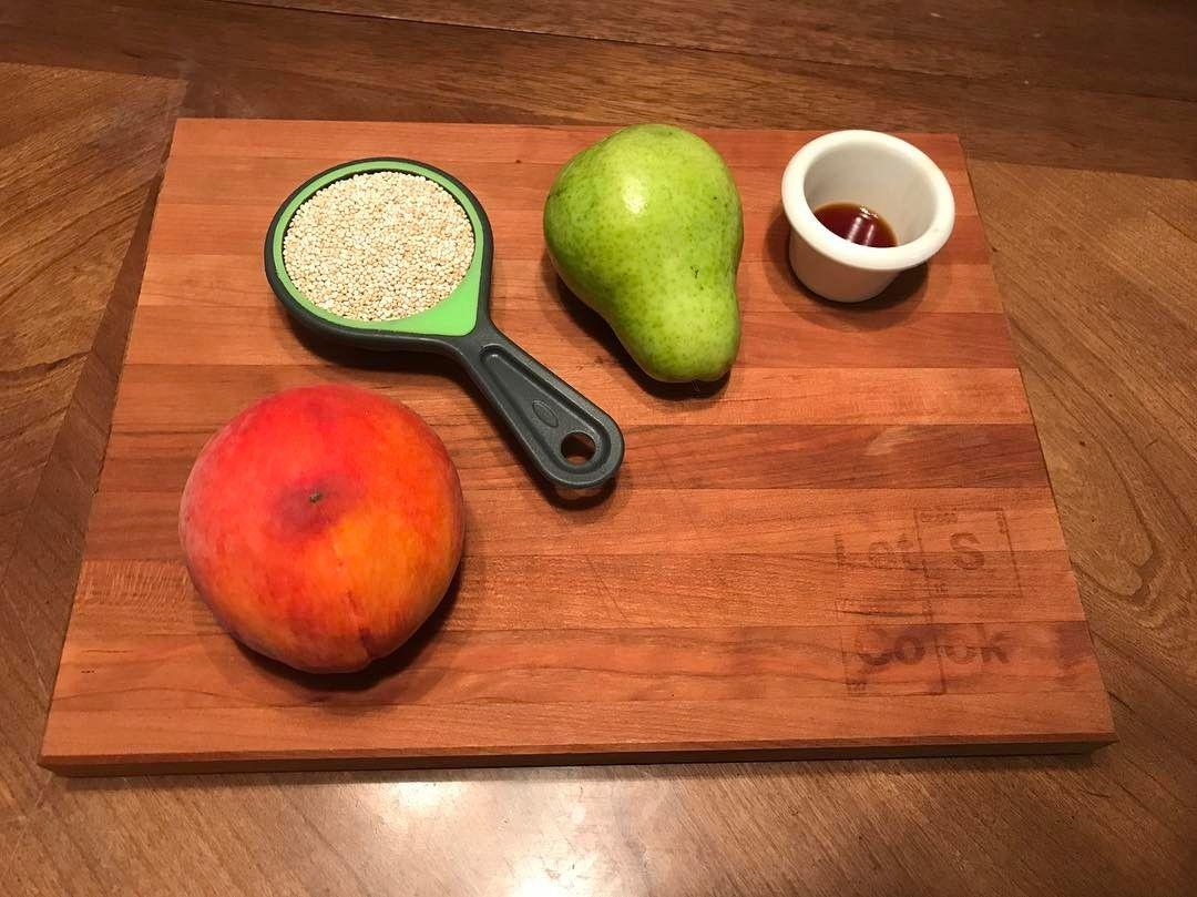 Step 1 measure ingredients Homemade organic baby food