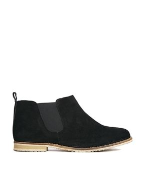 Image 1 ofASOS AZUMI Suede Chelsea Ankle Boots