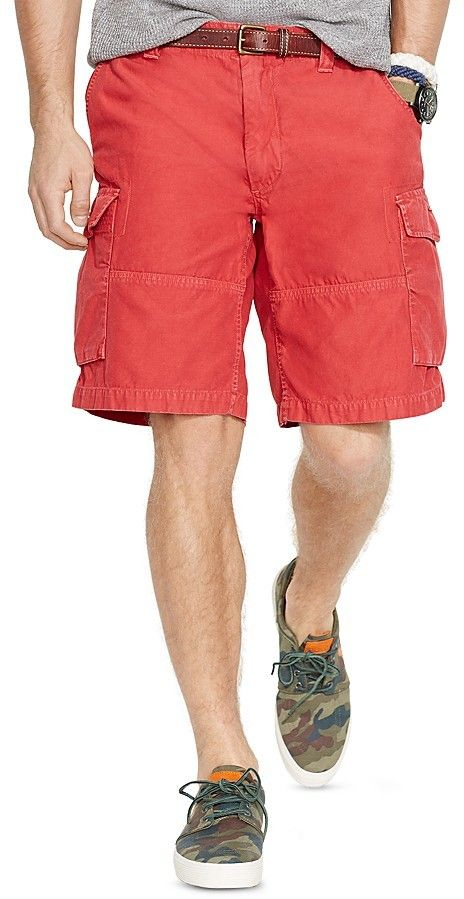 $36, Ralph Lauren Polo Commander Cargo Shorts Classic Fit. Sold by Bloomingdale's. Click for more info: https://lookastic.com/men/shop_items/212252/redirect