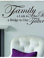 familie-alinktopassed, een bridgetoour toekomst citaat muurtattoo zooyoo8025 verwijderbare vinyl muursticker diy – EUR € 6.39