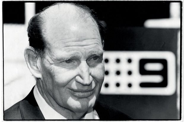 Late Australian media tycoon Kerry Packer with son James