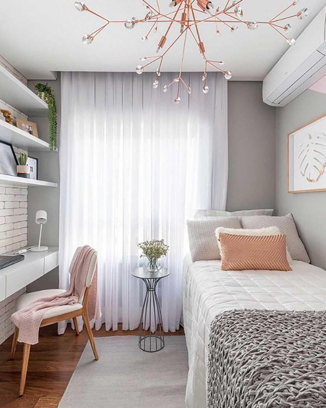 Encantada com essa inspiração de quarto para hóspedes ou p/ uma ...