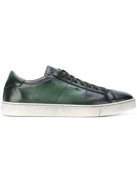 SANTONI lace-up sneakers. #santoni #shoes #