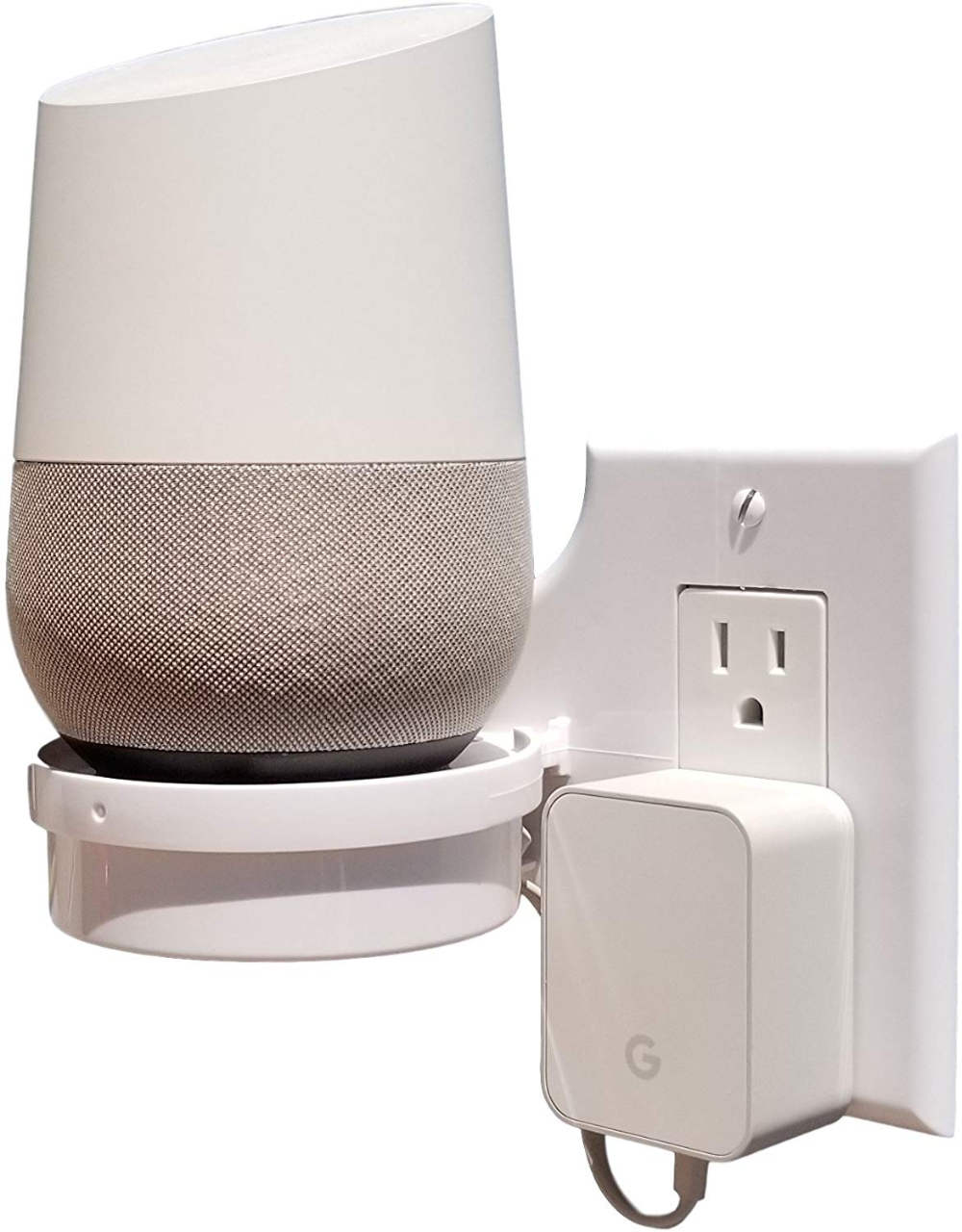 Mount Genie Smart Home Outlet Shelf Hidden Cord Storage And Extra Custom Short Cords Great For Google Home Nest Security Cameras Smart Cord Storage Google Home Smart Home