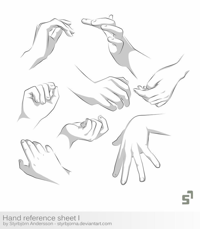 Hand Reference Sheet 1 tutorial by StyrbjornA.deviantart