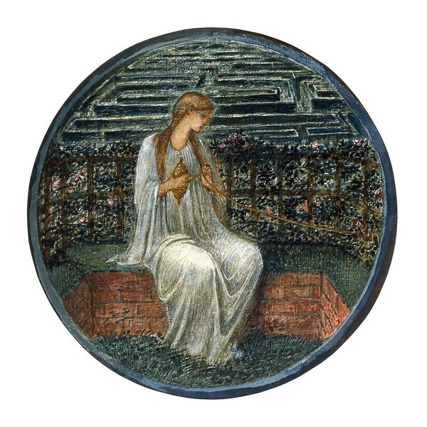 Love in a Tangle, Burne-Jones' illustration of Ariadne from The Flower Book.