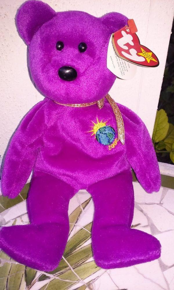 d8d2e7b3b5b Ty Beanie Baby Rare retired With Multiple Tag Errors Millennium The Bear!  MInt!  Ty