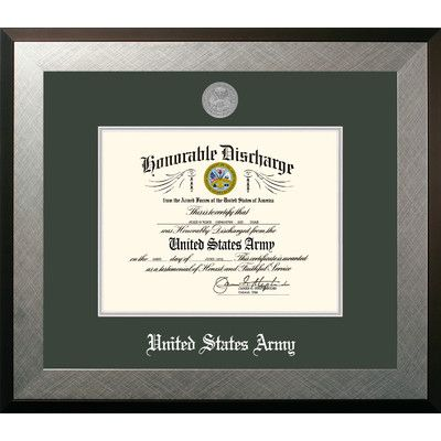 """PATF Army Discharge Honor Picture Frame Size: 11"""" x 8.5"""""""