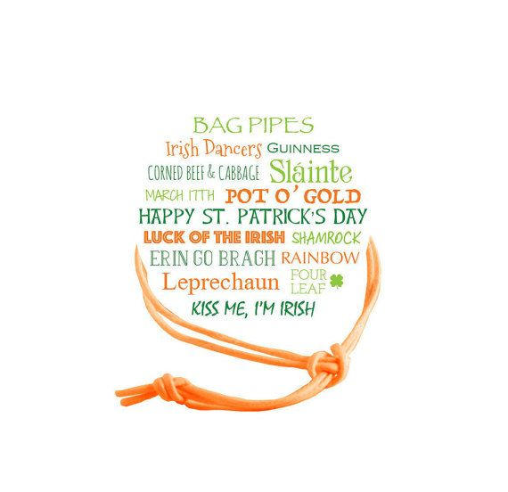 St. Patrick's Day Napkin Ring  Subway Qty:10 by NapkinKnot on Etsy