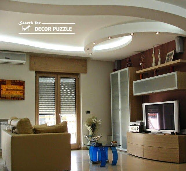 Gypsum board false ceiling designs for living room 2017 - False wall designs in living room ...