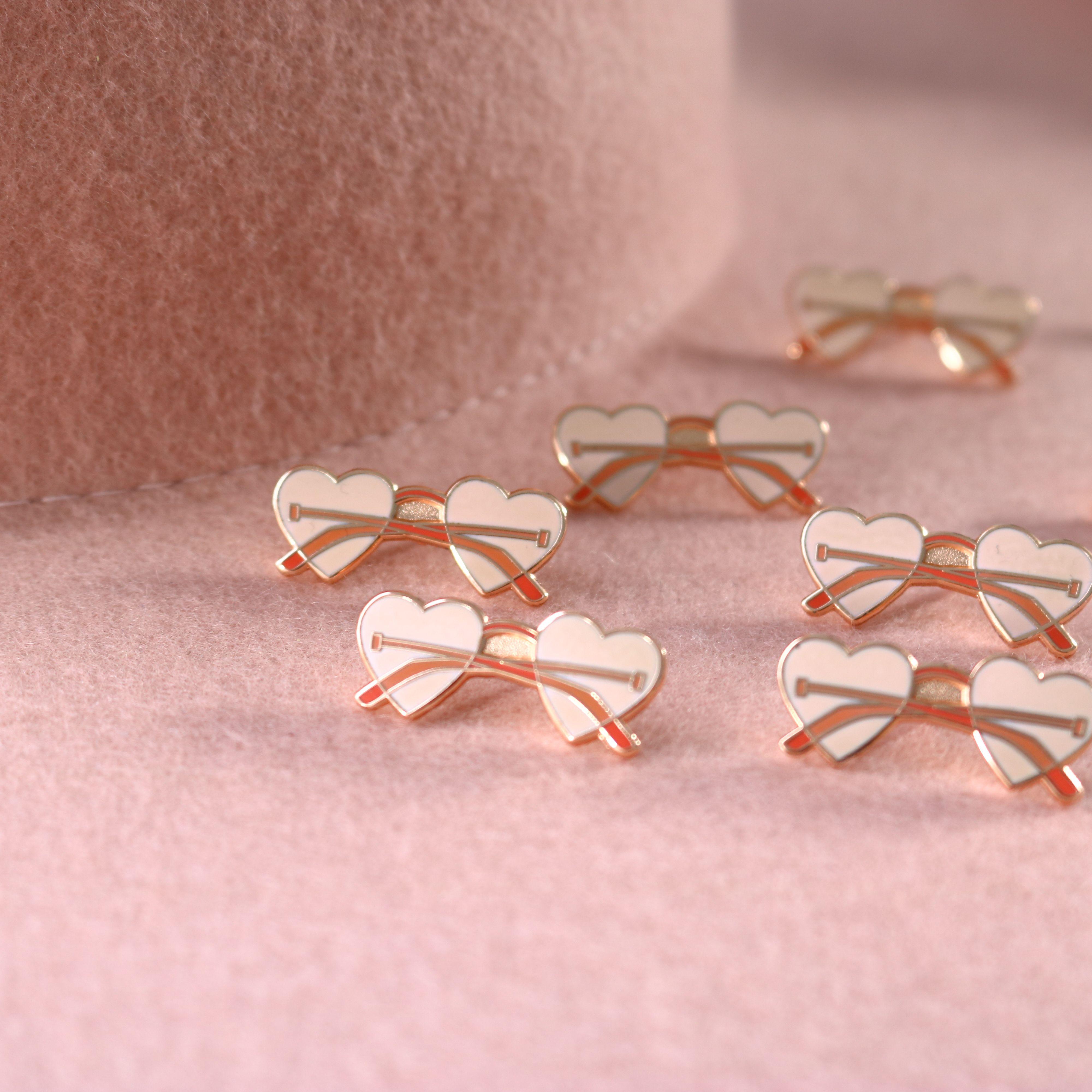 Rose colored glasses earrings