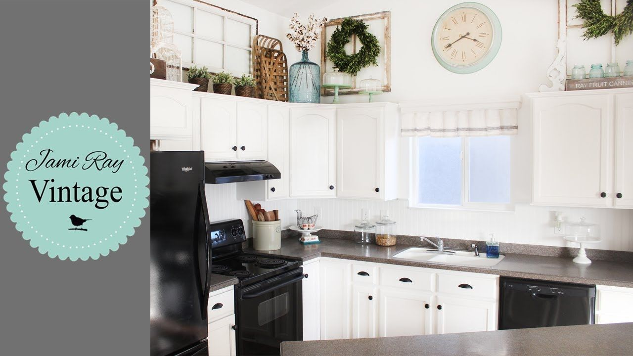 How To Paint Cabinets With Chalk Paint Youtube Vintage Kitchen Cabinets Kitchen Cabinets Painting Kitchen Cabinets