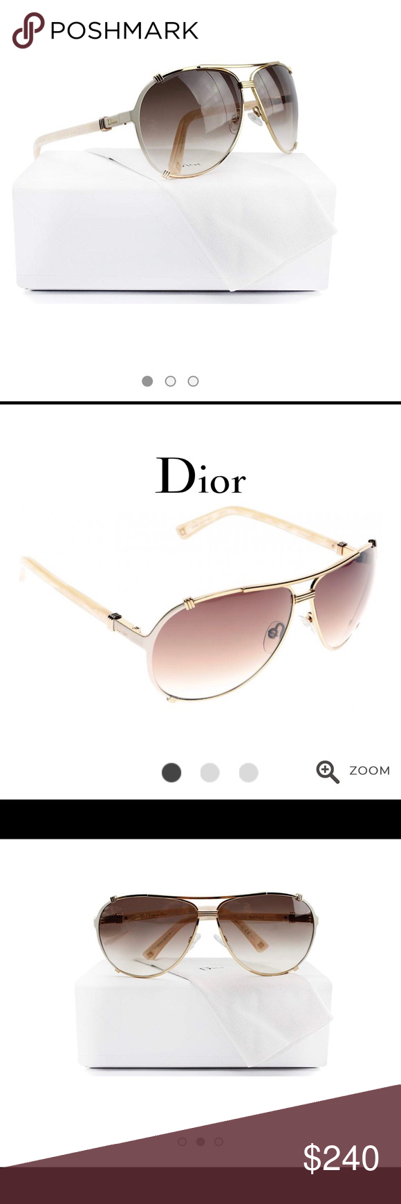 4080c9d5d9ac ✨Dior Chicago 2 aviator Sunglasses🌟 Christian Dior Chicago 2  Sunglasses  Rose Gold Cream Pink w Brown Violet Gradient (0UPU) UPU FM 63mm.